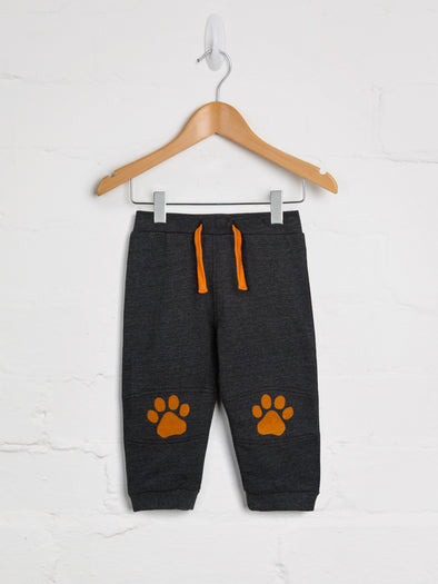 Charcoal Bear Paw Jogger - cool baby clothes by lucy & sam