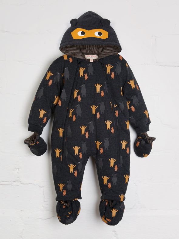 Where's Bear Pramsuit - cool baby clothes by lucy & sam