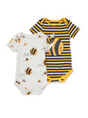 Two-pack Bee Kind Bodies - cool baby clothes by lucy & sam