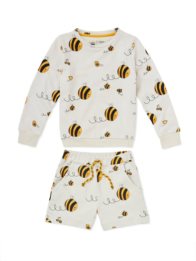 Bee Kind Track-Short Set - cool baby clothes by lucy & sam