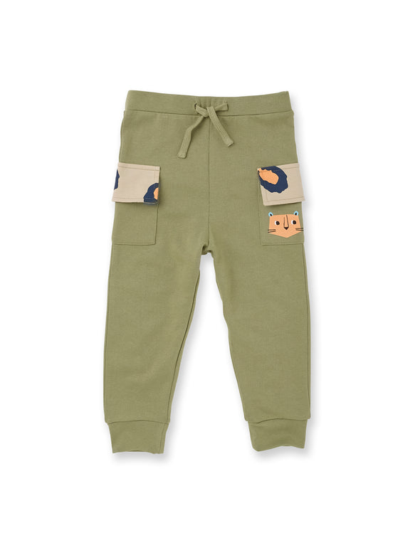 Leopard Khaki Cargo Pants - cool baby clothes by lucy & sam