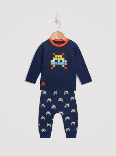 Space Invader Tee and Harem Jogger Set