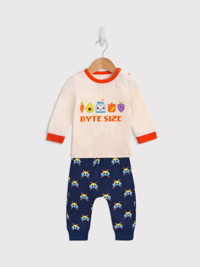 Byte Size Tee and Jogger Gift Set - cool baby clothes by lucy & sam