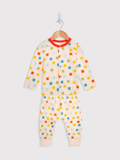 Pixel Cardi and Jogger Set - cool baby clothes by lucy & sam