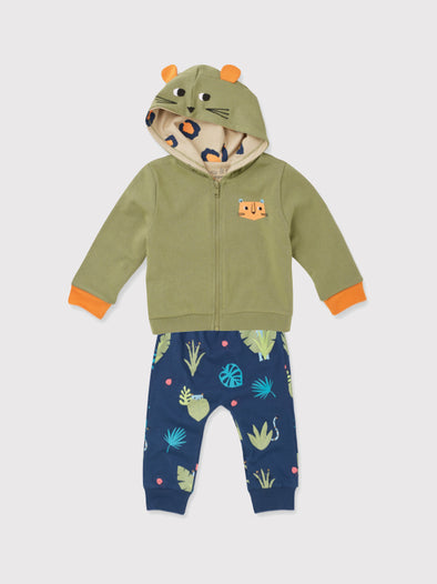 Leopard Hoody and Jogger Gift Set - cool baby clothes by lucy & sam