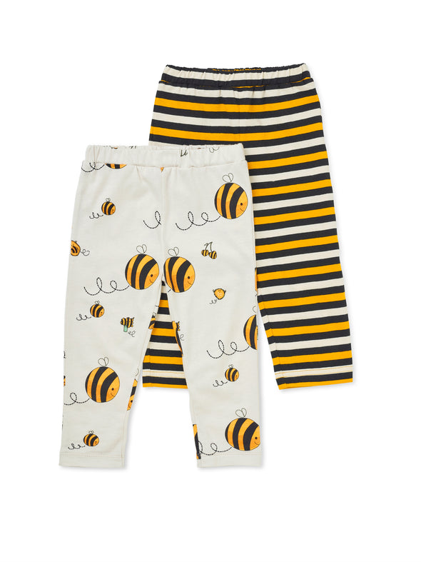 Two-pack Cropped Bee leggings - cool baby clothes by lucy & sam