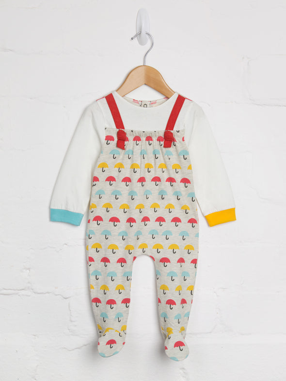 Ribbon Romper Brolly print - cool baby clothes by lucy & sam