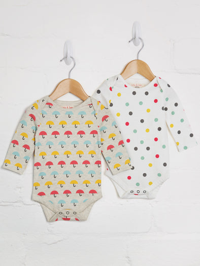 Up & Away 2-Pack Bodies - cool baby clothes by lucy & sam