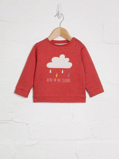 Head In The Clouds Sweat - cool baby clothes by lucy & sam