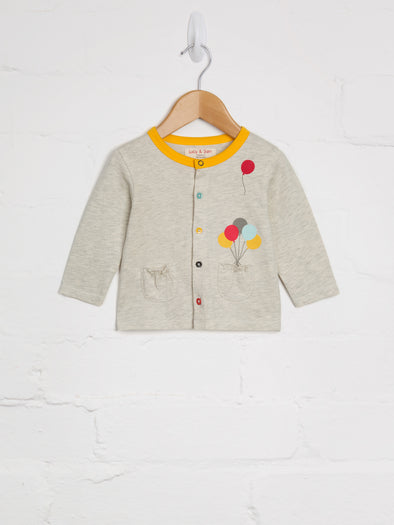 Grey Marl Balloon Cardi - cool baby clothes by lucy & sam