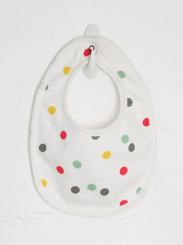 Spot Print Bib - cool baby clothes by lucy & sam