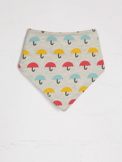Brolly Print Bandana Bib - cool baby clothes by lucy & sam
