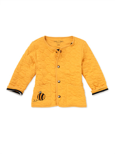 Honey Comb Quilted Jacket - cool baby clothes by lucy & sam