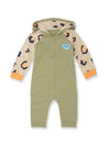 Leopard Print Hooded Zip Playsuit - cool baby clothes by lucy & sam