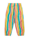 Lucy & Sam Multi colour stripe kids baby organic trousers