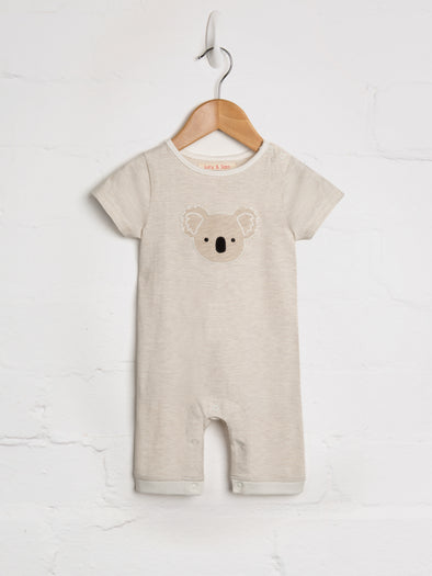 Sandstone Stripe Koala Playsuit - cool baby clothes by lucy & sam
