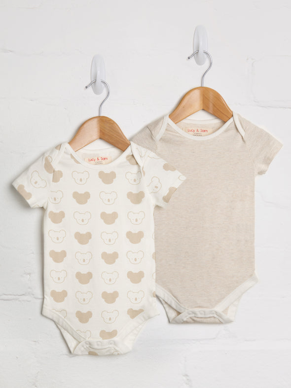 2 Pack Koala bodysuit - cool baby clothes by lucy & sam