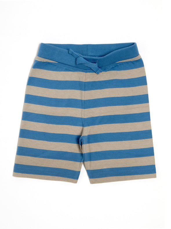 Grey And Blue Striped Jersey Shorts - cool baby clothes by lucy & sam