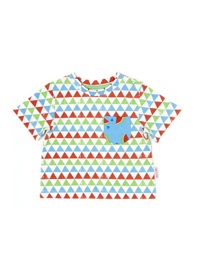 Triangle Print Pocket Tee - cool baby clothes by lucy & sam