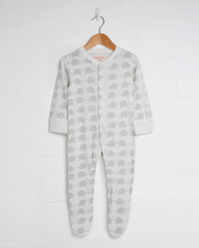Elephant Footed Babygrow - cool baby clothes by lucy & sam