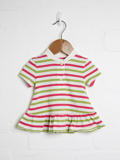 Stripe Peplum Frill Top - cool baby clothes by lucy & sam