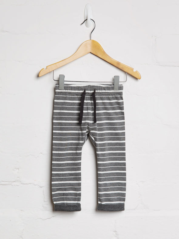 Unisex Charcoal Stripe Joggers - cool baby clothes by lucy & sam