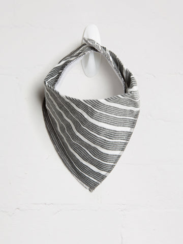 Unisex Charcoal  Bib - cool baby clothes by lucy & sam