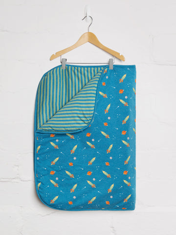 Space Rocket Blanket - cool baby clothes by lucy & sam