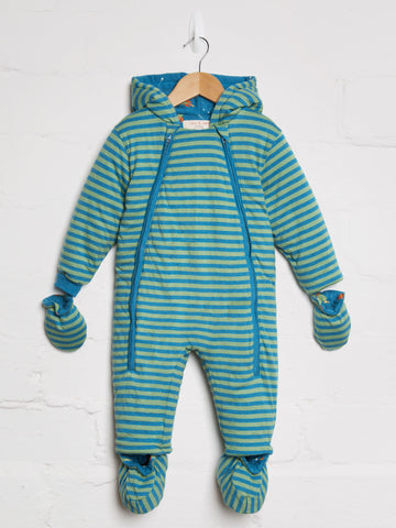 Green Blue Space Rocket Snowsuit - cool baby clothes by lucy & sam