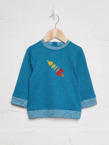 Space Rocket Sweat - cool baby clothes by lucy & sam