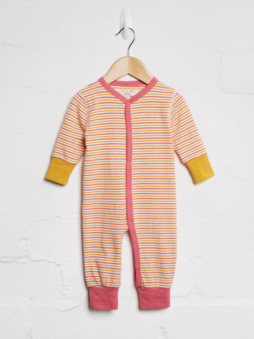 Autumn Stripe Button Babygrow - cool baby clothes by lucy & sam