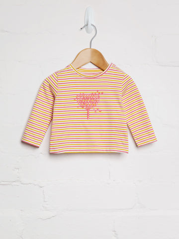 Autumn Stripe Heart Tree Tee - cool baby clothes by lucy & sam