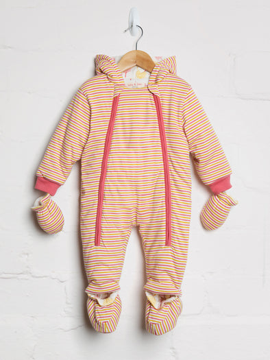 Autumn Stripe Heart Tree Snowsuit - cool baby clothes by lucy & sam