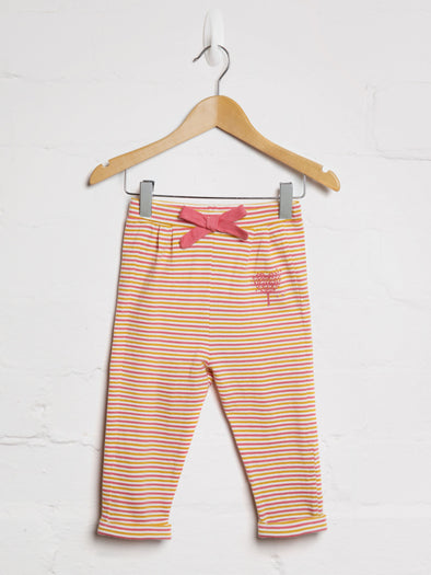 Autumn Stripe Bow Jogger - cool baby clothes by lucy & sam