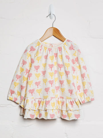 Heart Tree Frill Top - cool baby clothes by lucy & sam