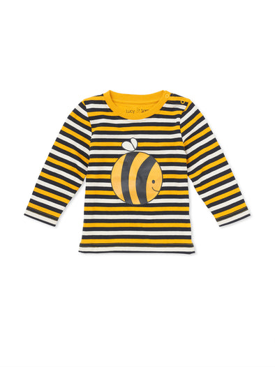Bee Stripe Tee - cool baby clothes by lucy & sam