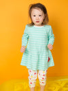 Aqua Chevron Watermelon Dress - cool baby clothes by lucy & sam
