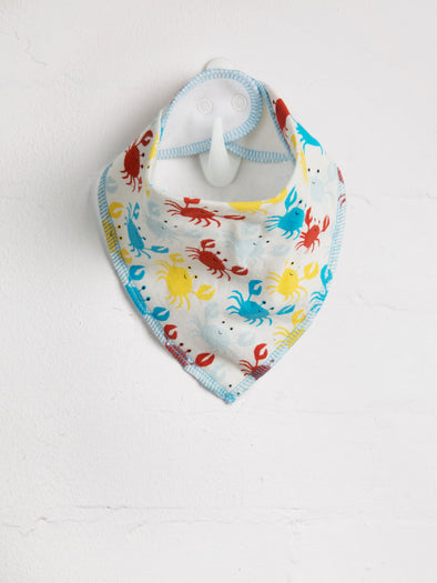Happy Crab Bib - cool baby clothes by lucy & sam