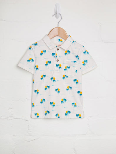 Palm Tree Polo - cool baby clothes by lucy & sam