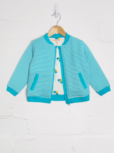 Blue Stripe Bomber Jacket - cool baby clothes by lucy & sam