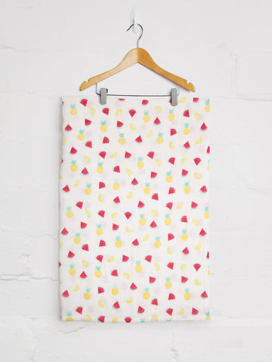 Tropical Fruit Muslin - cool baby clothes by lucy & sam