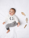 Stripe Penguin Harem Joggers - cool baby clothes by lucy & sam