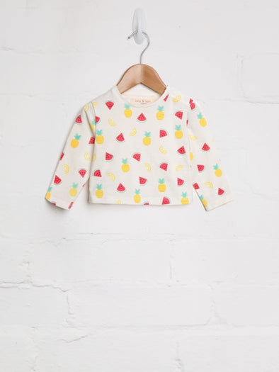 Tropical Fruit Tee - cool baby clothes by lucy & sam
