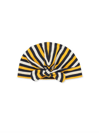 Bee Stripe Turban Hat - cool baby clothes by lucy & sam