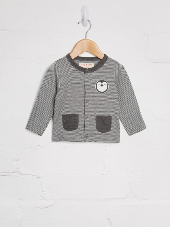 Stripe Penguin Cardigan - cool baby clothes by lucy & sam