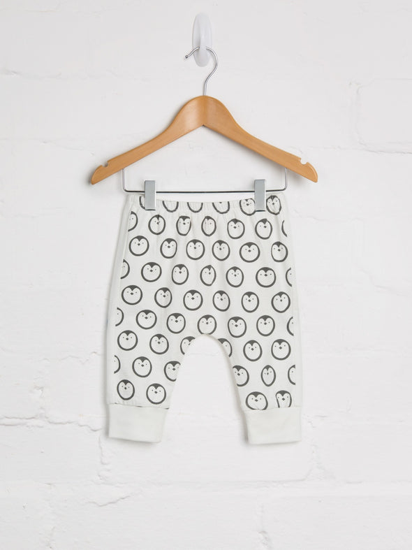 White Penguin Harem Joggers - cool baby clothes by lucy & sam