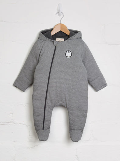 Stripe Penguin Snuggle Suit - cool baby clothes by lucy & sam