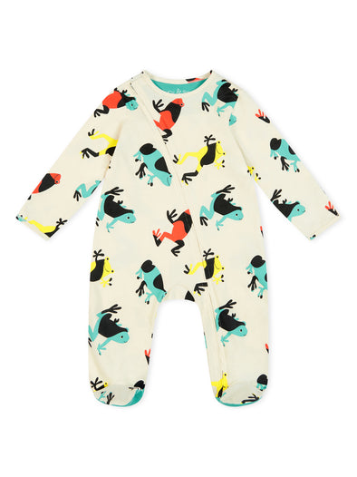 Tropical Frogs Zip Babygrow