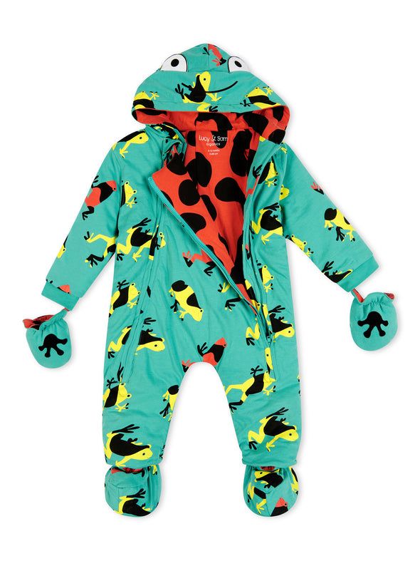 Tropical Frogs Green Pramsuit