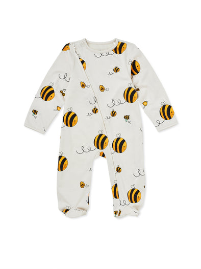 Bee Kind Zip Babygrow - cool baby clothes by lucy & sam